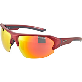 Alpina Lyron HR Lunettes, cherry matt-indigo/red mirror